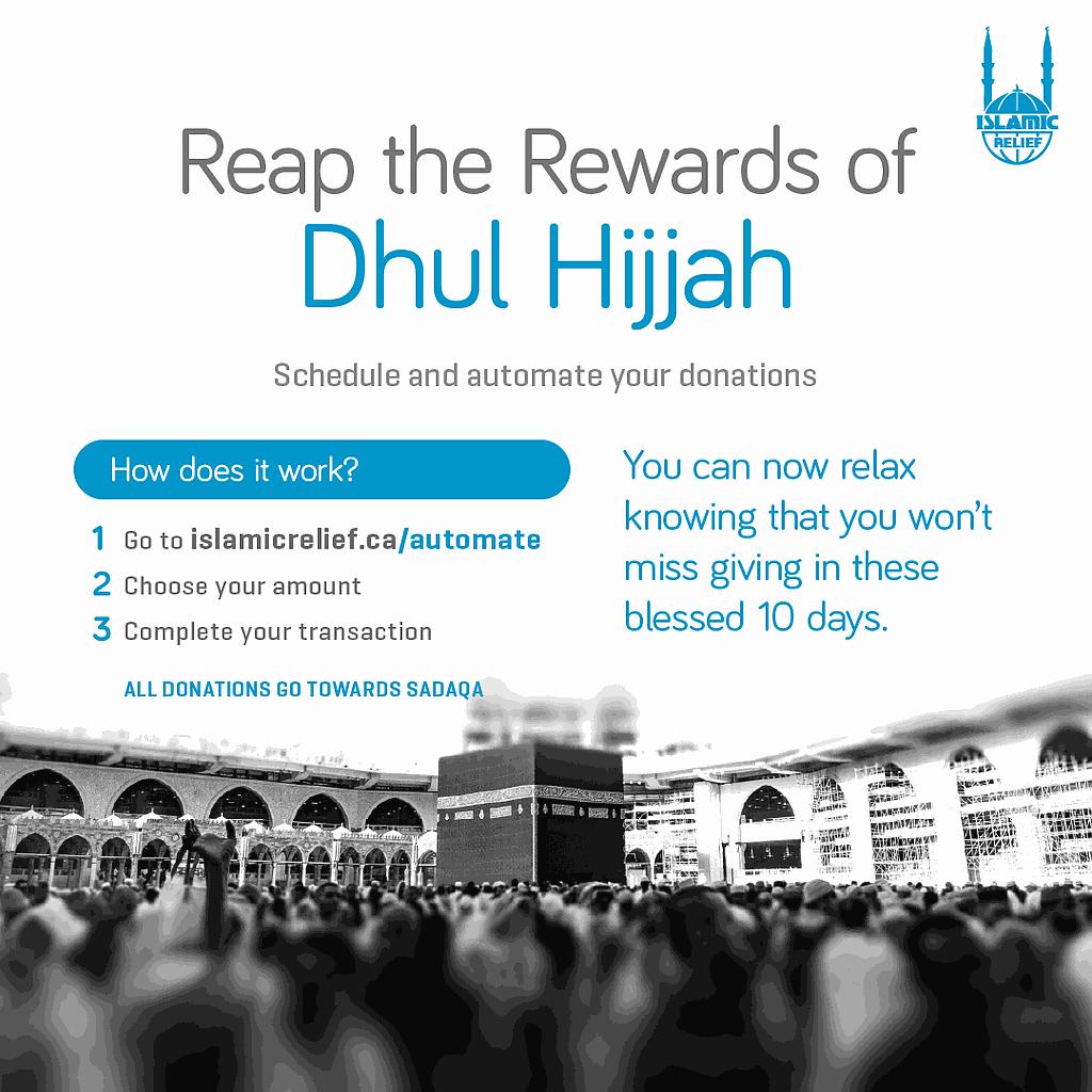 Daily Giving in Dhul Hijjah
